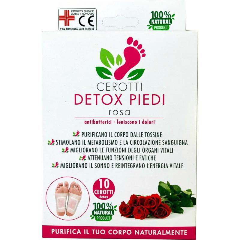 Cerotti detox piedi alla rosa confezione da 10