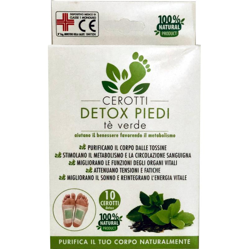 cerotti detox piedi con Tè Verde confezione 10 cerotti
