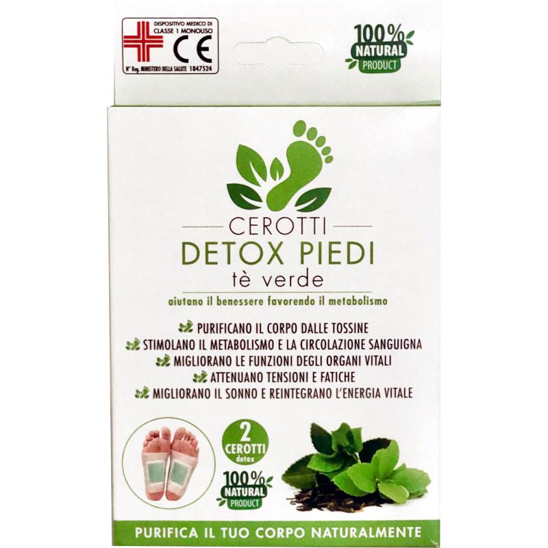 cerotti detox piedi con Tè Verde