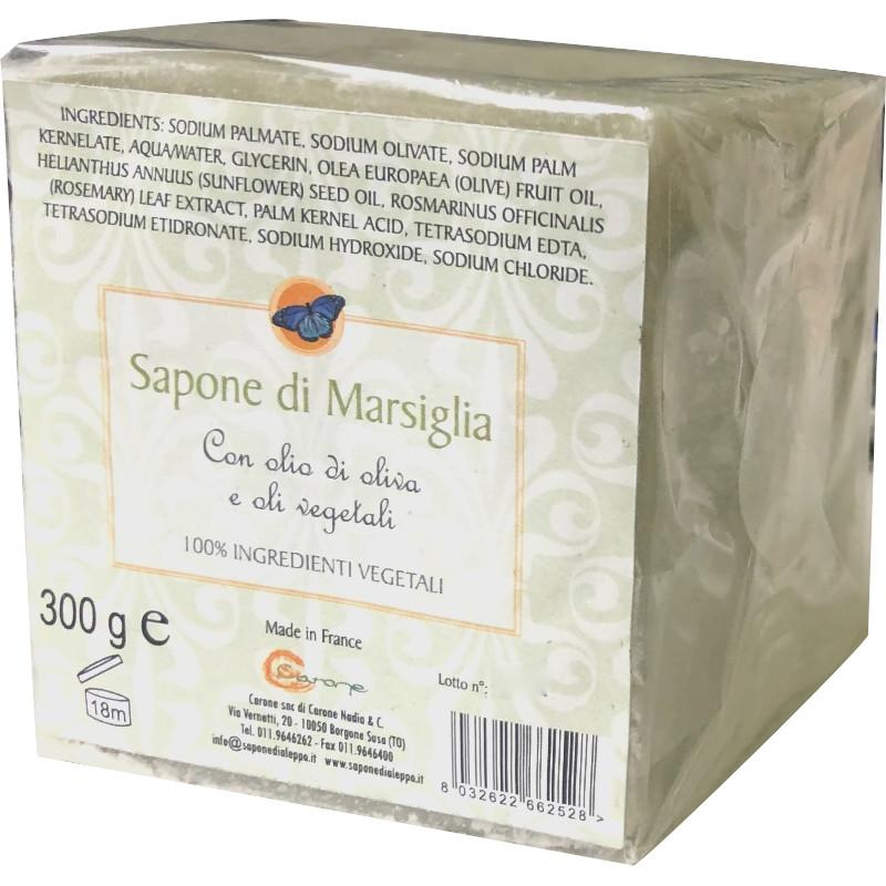 Sapone di Marsiglia con Olio di Oliva e oli vegetali