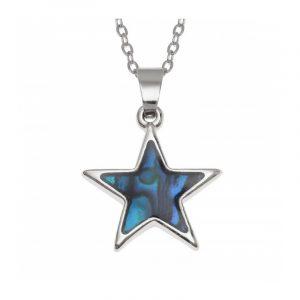 Conchiglia di Paua naturale collana stella