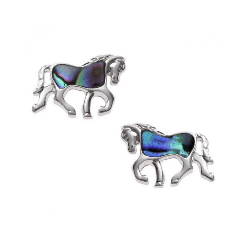 Orecchini cavallo con conchiglia di Paua