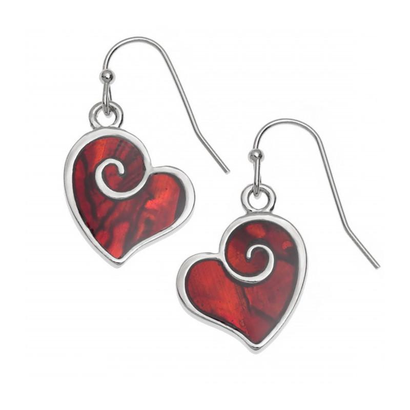Conchiglia di Paua orecchini cuore