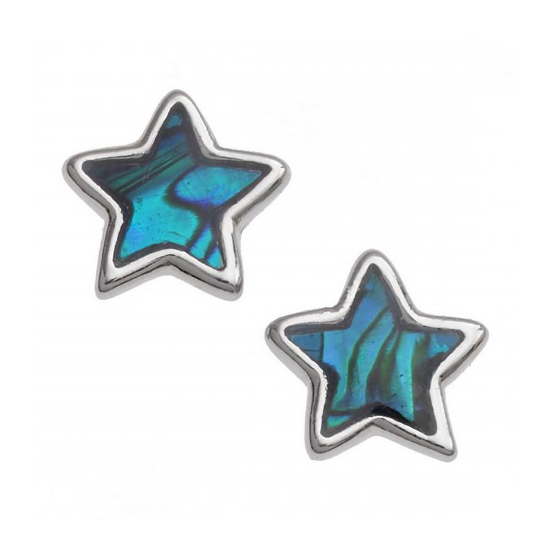 Orecchini stella con conchiglia di Paua naturale
