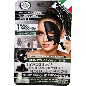 Hydrogel mask maschera carbone vegetale
