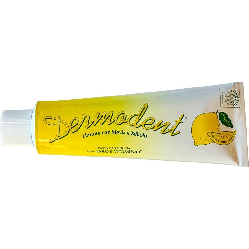 Dermodent dentifricio limone con stevia e xilitolo