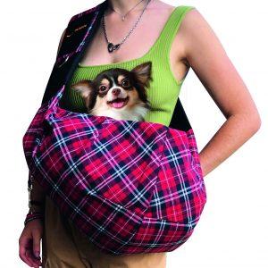 borsa monospalla per cani