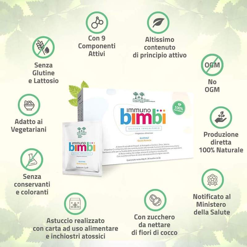 Salugea immuno bimbi caratteristiche