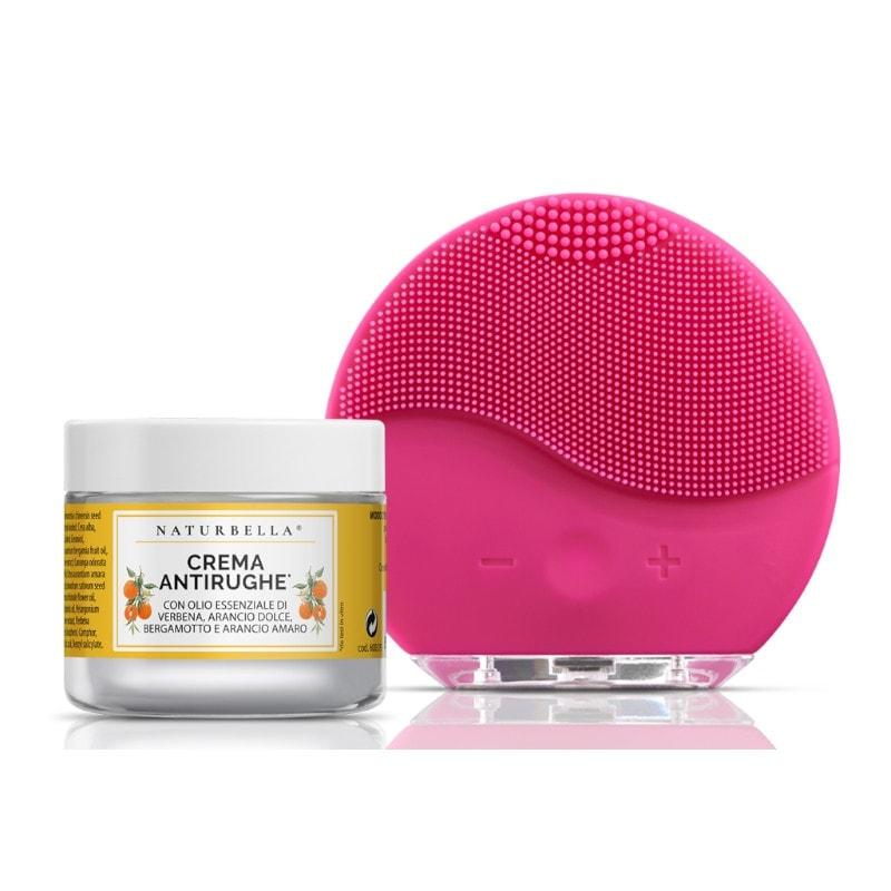 naturbella crema viso antirughe e massaggiatore
