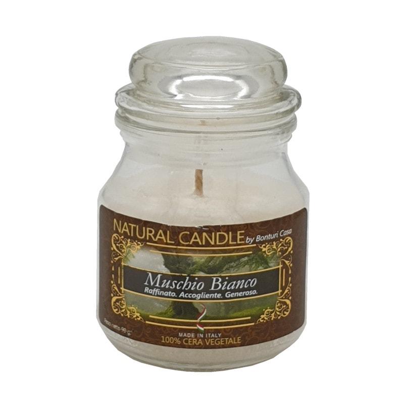 Nature Candle fragranza Muschio Bianco 90 grammi