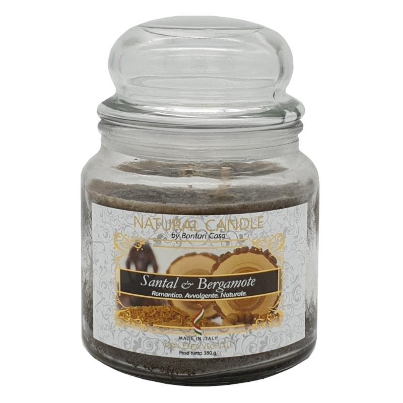 Nature Candle aroma Santal & Bergamote 380 grammi