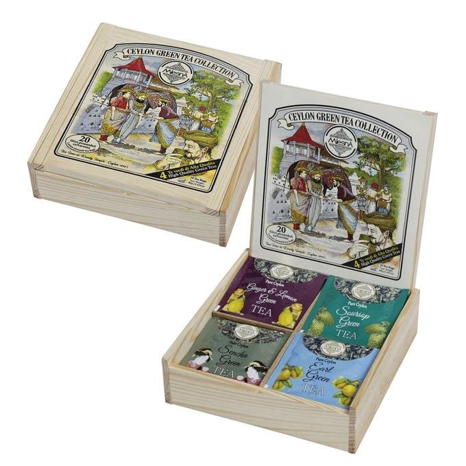 Tè Verde Ceylon Collection scatola di legno regalo