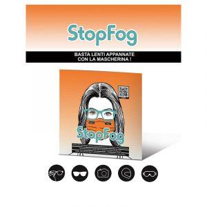 StopFog panno per lenti antiappannamento per mascherine