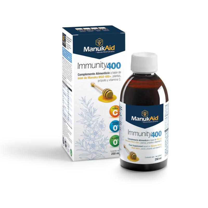 Immunity 400 sciroppo con miele di Manuka MGO400, propoli e vitamina C