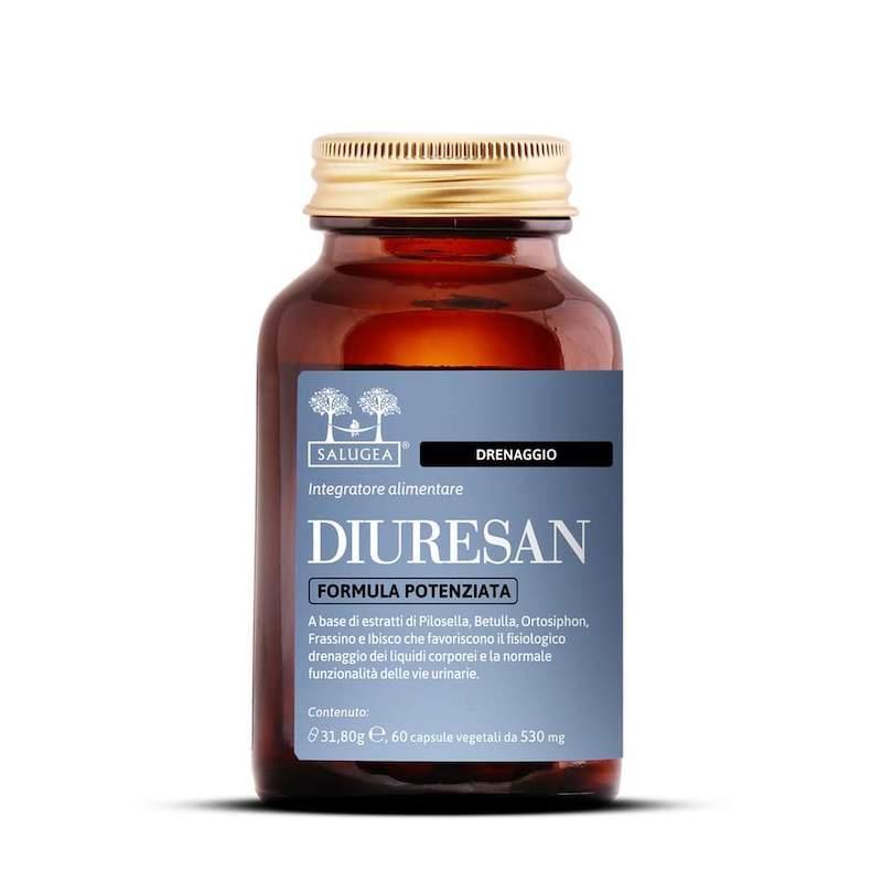 Diuresan - Integratore con Estratti di Pilosella, Betulla, Ortosiphon, Frassino e Ibisco - Formula Potenziata Salugea
