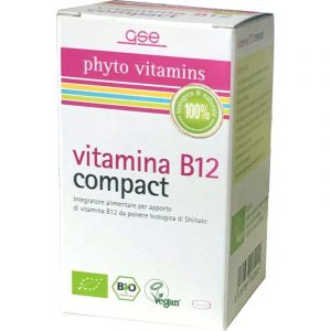 Vitamina B12 compact biologica da Shiitake