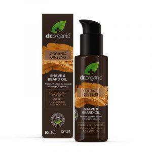 Olio da barba e rasatura Organic Ginseng Dr. Organic