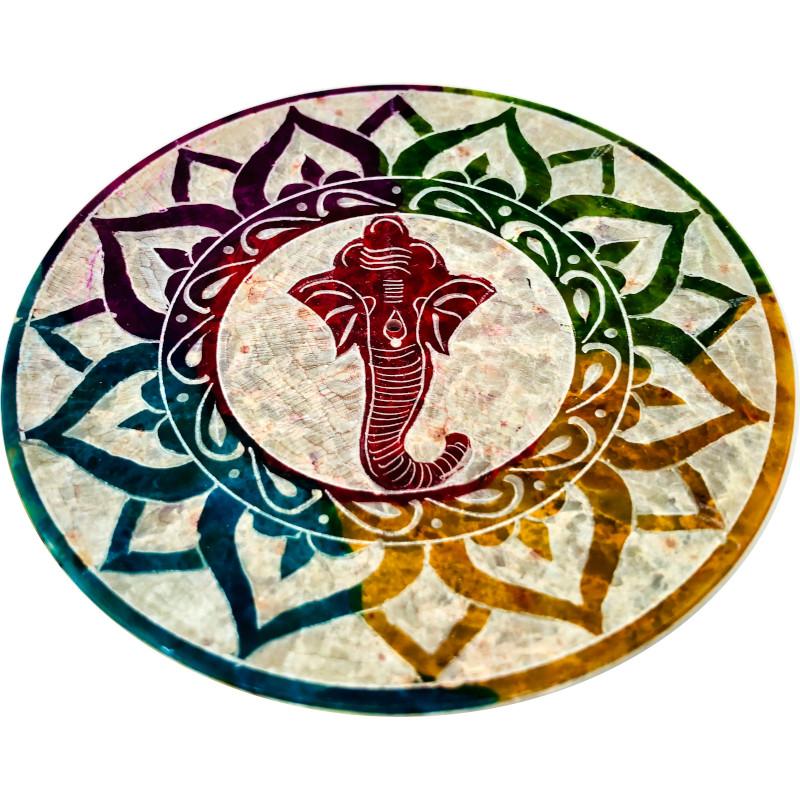 Portaincenso pietra saponaria Ganesh