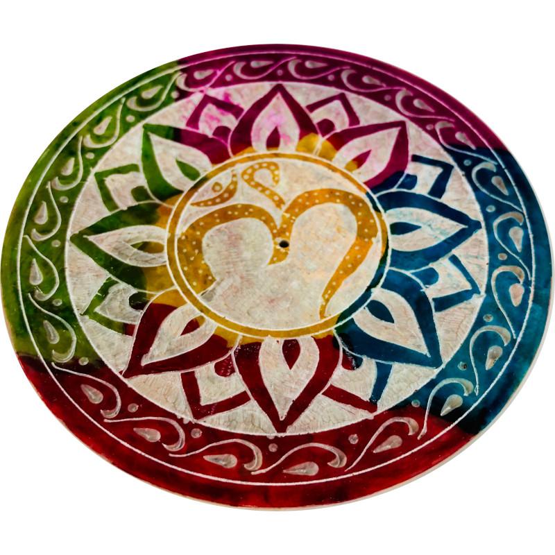 Portaincenso pietra saponaria simbolo OM